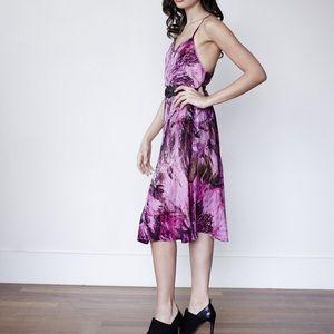 Pink silk tank and skirt set